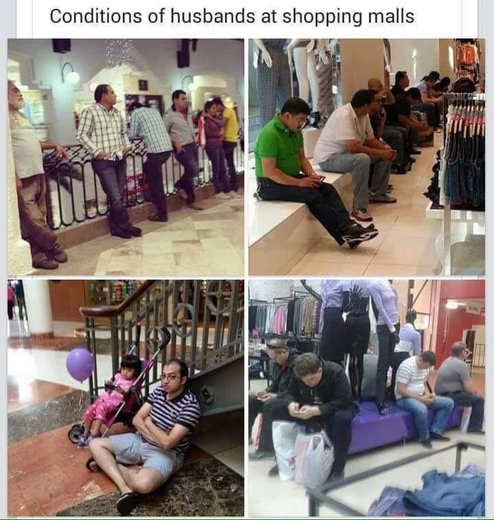 Conditions of Husbands at Shopping Malls