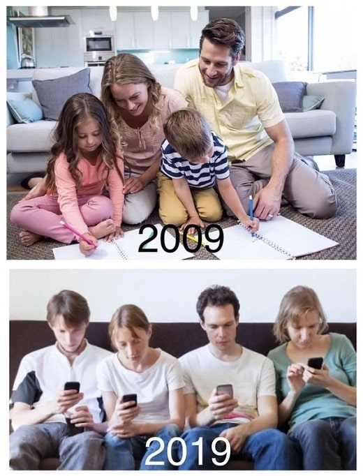 Family Reality 10 Years Ago meme