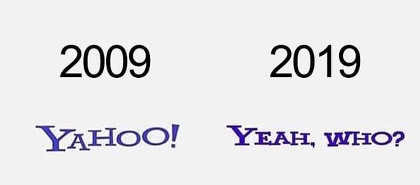 Yahoo 10 Years Challenge meme