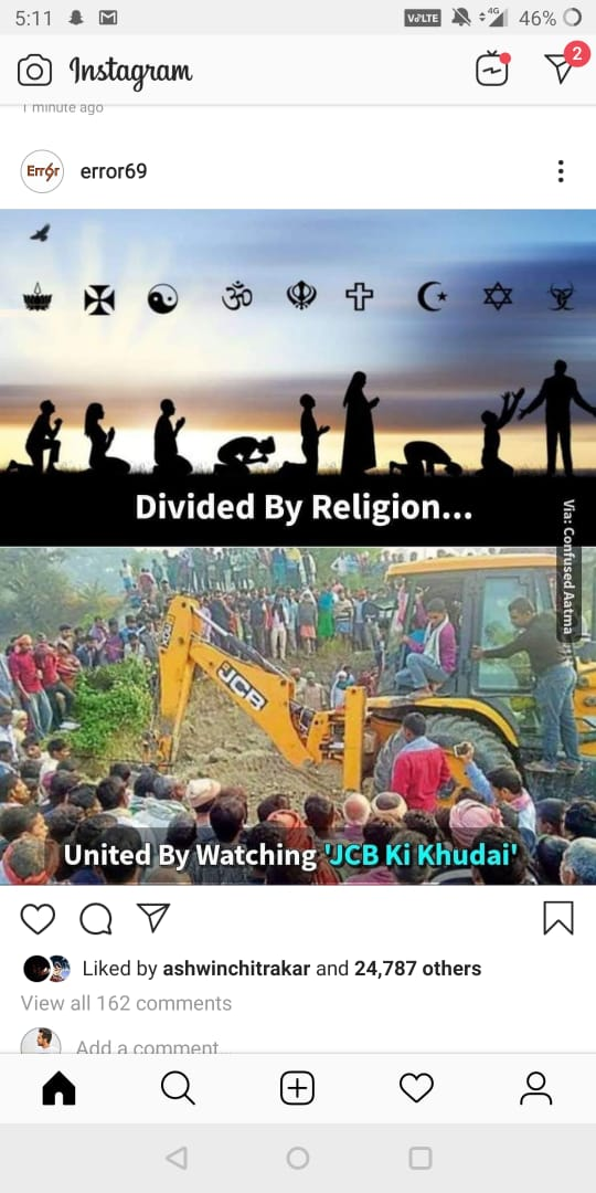 jcb ki khudai meme divided by religion united by JCB