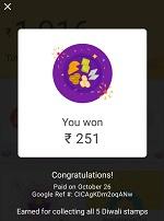 google pay rangoli stamp memes Rs 151 won